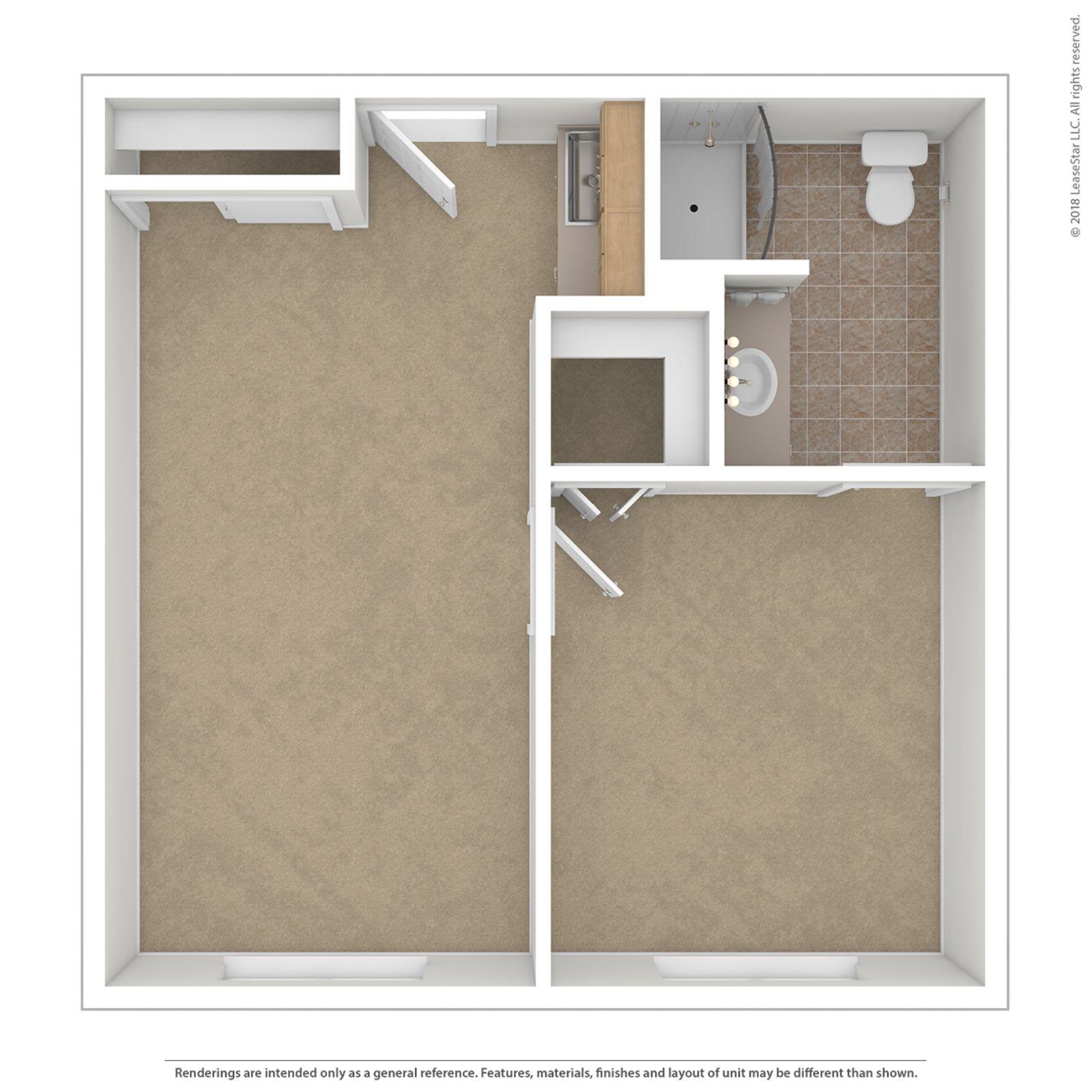 One Bedroom Floor Plan