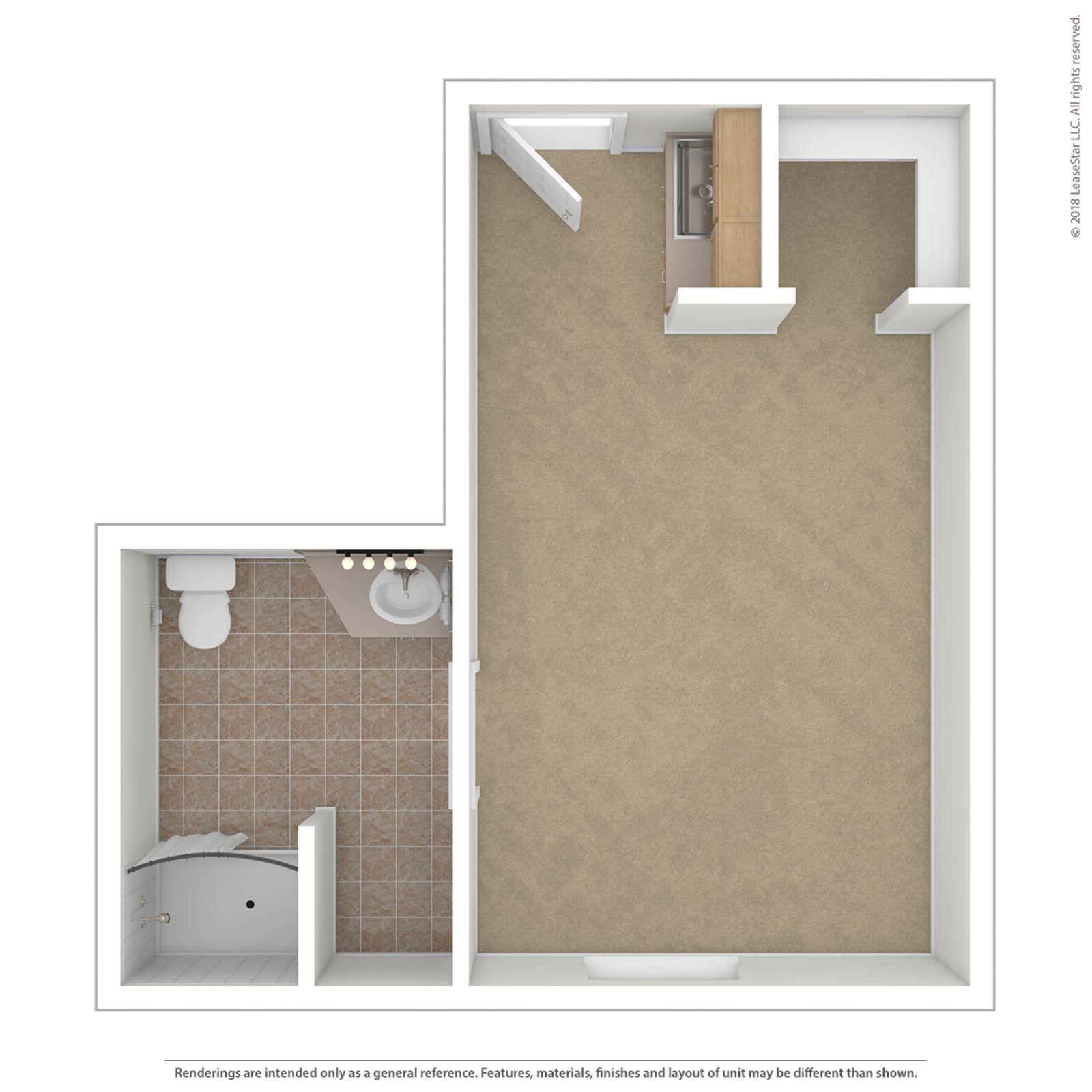 Studio 330 Floor Plan