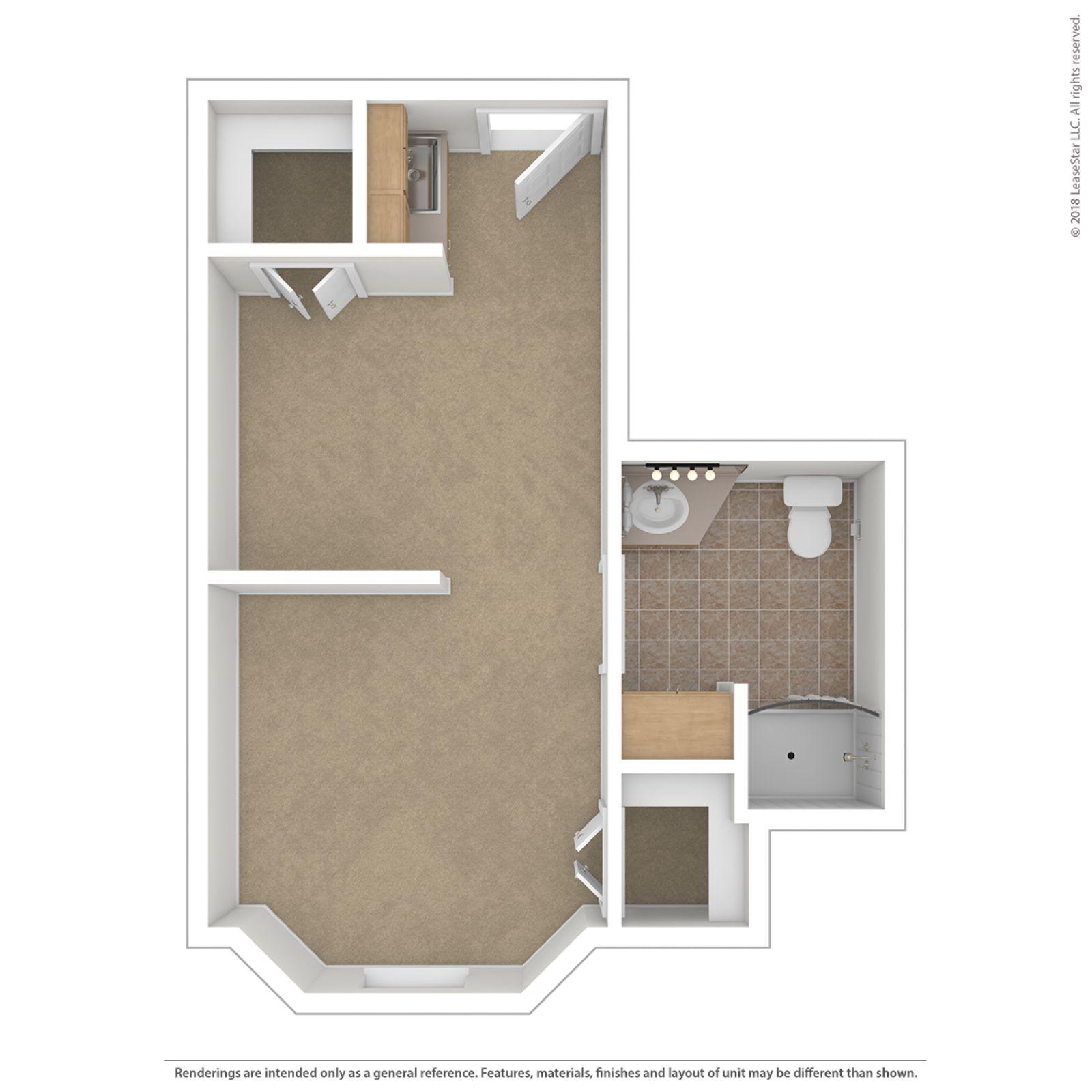 Studio 400 Floor Plan